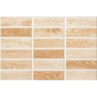 Керамическая плитка Inter Cerama MADERA для стен 23x35 см коричневый светлый