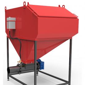 Шнековая система автоматизованої подачі палива Ретра 1350 × 1020 × 1 960 мм