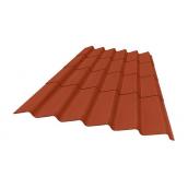 Кровельный материал Керамопласт Волна 2000х870х5 мм коричневый