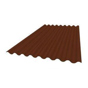 Кровельный лист Керамопласт Классический 2000х870х4,5 мм коричневый