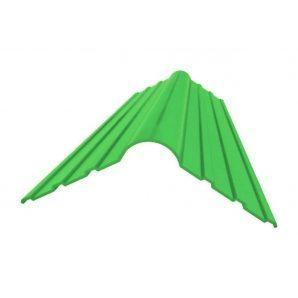 Коньковая деталь Керамопласт 1200x250x5 мм зеленый