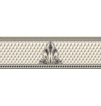 Плитка керамическая BELANI Фриз Грация 9,5х30 см белый