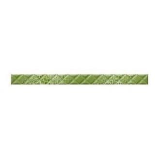 Фриз Golden Tile Relax Aura 400х30 мм зеленый (494411)