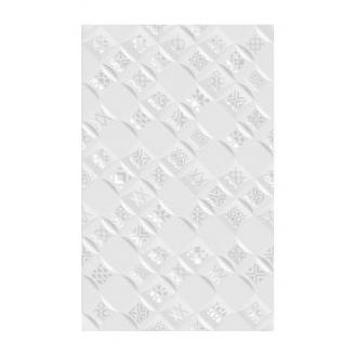 Плитка керамическая Golden Tile Relax Aura декоративная 250х400 мм белый (490401)
