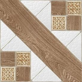 Керамическая плитка Inter Cerama COUNTRY для пола 42x42 см коричневый светлый