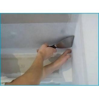 Армирование потолка стеклохолстом