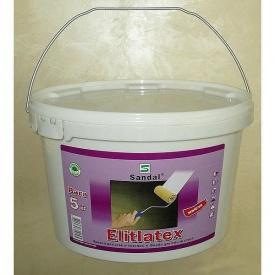 Краска водоэмульсионная моющаяся латексная SANDAL Elitlatex 5 кг