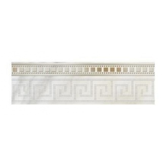 Фриз Golden Tile Каррара 300х90 мм белый (Е50311)