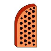 Лицевой фасонный кирпич СБК ВФ-3 1NF 250х120х65 мм красный классический