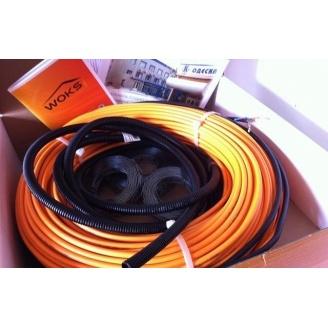 Двожильний нагрівальний кабель Woks Тепла підлога в стяжку Обогреватель