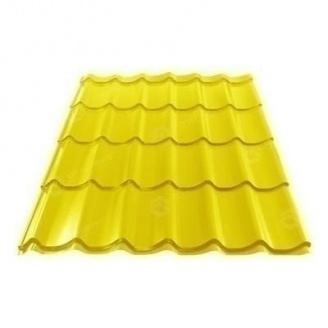 Металлочерепица Сталекс GRAND 0,45 мм PE Китай (Sutor Steel) (RAL1003/сигнально-желтый )