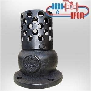 Клапан 16ч42р обратный приемный фланцевый чугунный с фильтром Ру-2,5 Ду80