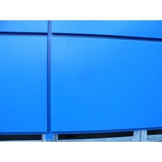 Фасадная кассета 0,4 мм синяя