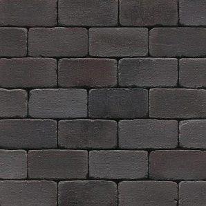Клинкерная брусчатка Muhr Klinker 15 Schwarz-bunt edelglanz gerumpelt 200х100х52 мм