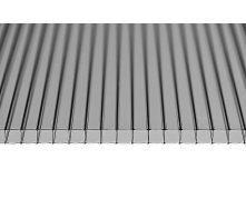 Сотовый поликарбонат Oscar 4х2100х6000 мм серый