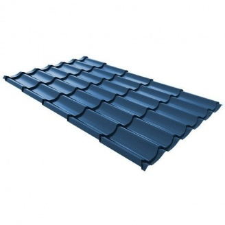 Металлочерепица Ruukki Monterrey Standard Polyestr 0,5 мм (RAL5001 Greenblue #1f3438)