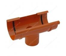 Воронка желоба Bryza 125 125х94х280х90 мм кирпичная RAL 8004
