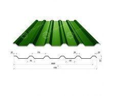 Профнастил Сталекс Н-33 1115/1060 мм 0,45 мм PEMA Корея (Dongbu) (RAL6005/зеленый мох)