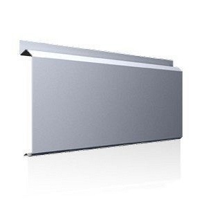 Фасадна лінійна система Ruukki Lamella CL20 1,5 мм (RAL7040/сіре вікно)