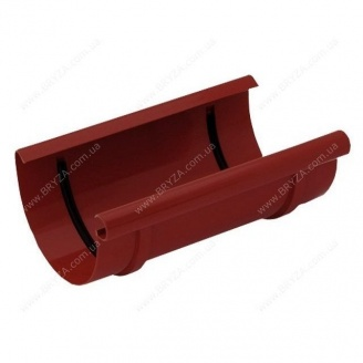 Муфта желоба Bryza 125 127х94х240 мм (красный / RAL 3011)