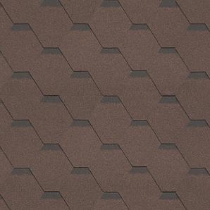 Бітумна черепиця Shinglas Класик Кадриль 3х317х1000 мм коричневий