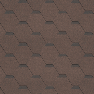 Битумная черепица Shinglas Классик Кадриль 3х317х1000 мм коричневый