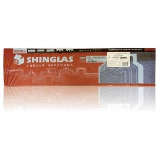 Коньково-карнизная черепица Shinglas 253х1003 мм К26 красный