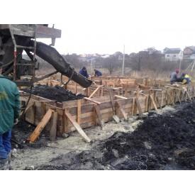 Строительство железобетонного фундамента
