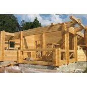Будівництво дерев'яного будинку з клеєного брусу