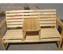 Парное кресло деревянное