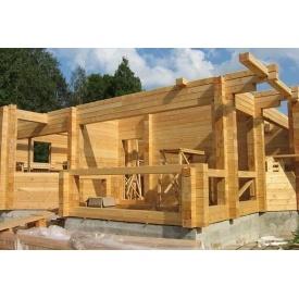 Строительство деревянного дома из клееного брусу