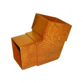 Колено FloPlast Niagara Woodgrain 112,5 градусов золотой дуб