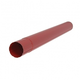 Водостічна труба Акведук Преміум 87 мм 3 м темно-червоний RAL 3009