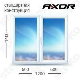 Вікно Steko S300 1400х1200 мм