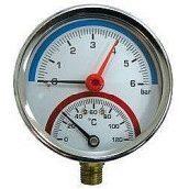 """Термоманометр с клапаном 1/2"""""""