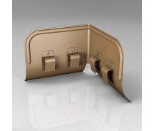 Переливозадержатель PP  Roofart Scandic Copper 125/87 90 градусов медный