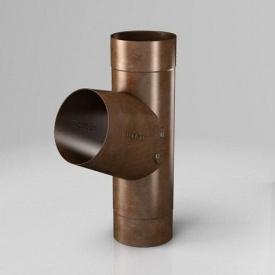 Тройник RB Roofart Scandic Copper 100 мм медный