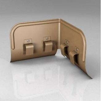 Переливозадержатель PP Roofart Scandic Copper 150/100 90 градусов медный