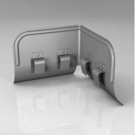 Переливозатримувач PP Roofart Scandic Zinc 125/87 90 градусів цинковий