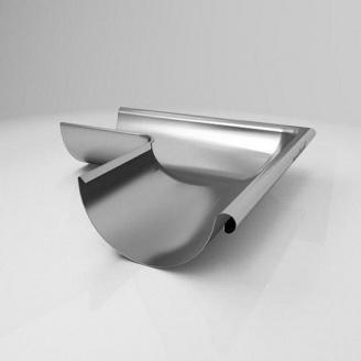 Внутренний угол KI Roofart Scandic Zinc 125 мм 90 градусов цинковый
