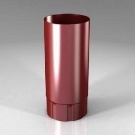 Водостічна труба BU Roofart Scandic Prelaq 87 мм 3 м червоний RAL3011