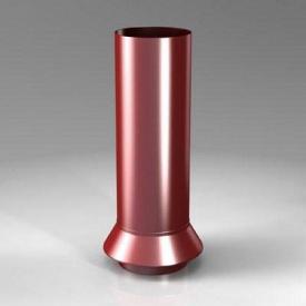 Дренажний з'єднувач RC Roofart Scandic Prelaq 87 мм червоний RAL3011