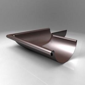 Зовнішній кут KE Roofart Scandic Prelaq 125 мм 90 градусів коричневий RAL8017