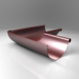 Внутрішній кут KI Roofart Scandic Prelaq 125 мм 90 градусів цегляний RAL3009