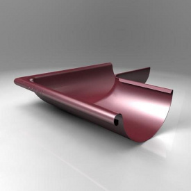 Зовнішній кут KE Roofart Scandic Prelaq 125 мм 90 градусів вишневий RAL3005