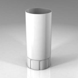 Водостічна труба BU Roofart Scandic Prelaq 100 мм 3 м білий RAL9010