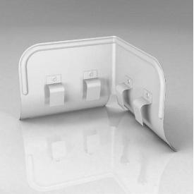 Переливозатримувач PP Roofart Scandic Prelaq 125/87 90 градусів білий RAL9010