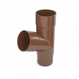 Трійник труби Bryza 100 245х90,2х90,2х84,5 мм коричневий