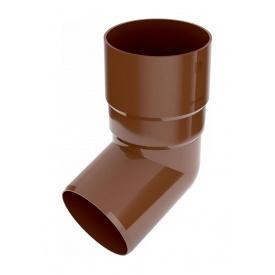 Коліно труби Bryza 75 67 градусів 63,3х147х57,5 мм коричневий