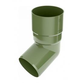 Коліно труби Bryza 75 67 градусів 63,3х147х57,5 мм зелений